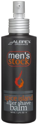 Aubrey Organics Men's Stock Spice Island After Shave Balm, 4-Ounce Bottles (Pack (Mens Stock Spice)