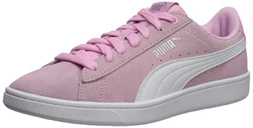 (PUMA Women's Vikky Sneaker Pale Pink White, 6 M US)