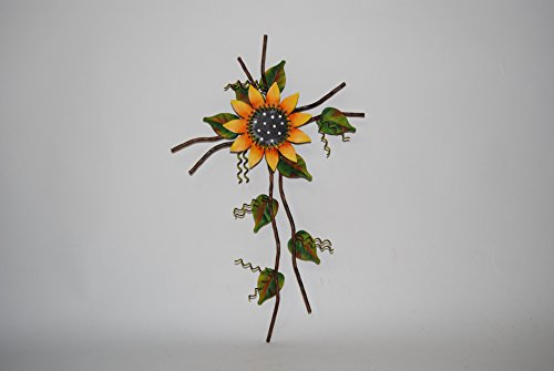 The Round Top Collection Whimsical Sunflower Cross - Metal