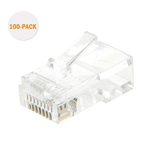 100pk Cat5e Connectors - 8