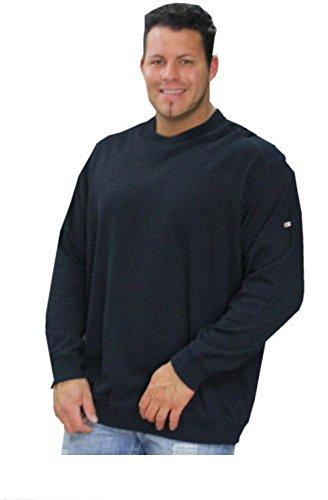 Grande 4xl 5xl Talla nbsp; Redondo Cuello Color Greystone Negro Para nbsp;sudadera Hombre x0qYYz8T
