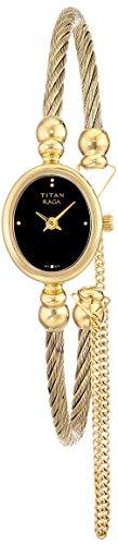 (Titan Women's 'RAGA Flora' Quartz Metal and Brass Dress Watch, Color:Gold-Toned (Model: 197YM05))