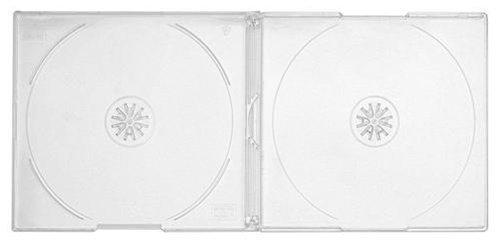 mediaxpo 100 Slim Clear Double CD Jewel Cases