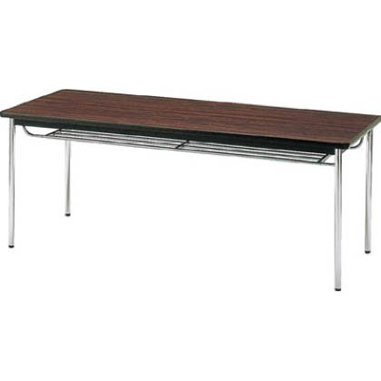 会議用テーブル 棚付丸脚 1800×750×700 ローズ TDS-1875T RO(ローズ)(ソフトエッジマキ) B003CJNDPA