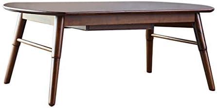 Tavolino, tavolino Ovale in Legno massello con cassetto tavolino ...