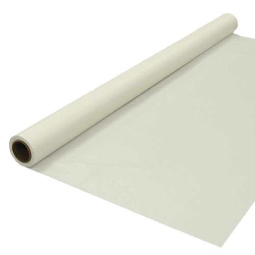 Custom Runner Ivory Roll (Party Essentials Heavy Duty Plastic Banquet Table Roll Available in 27 Colors, 40
