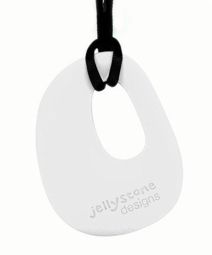 snow white Teething//Nursing Jellystone Silicone Necklace Organic Pendant