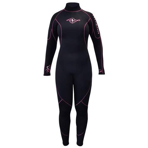 (Aqua Lung 7mm Women's Aquaflex Wetsuit (Black/Pink, 14))