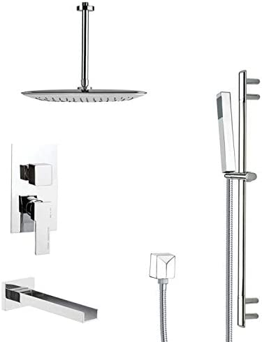 11.5 L x 10 W Remer TSR9020 Galiano Pressure Balance Tub and Shower Faucet