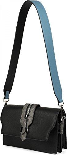 Mousqueton Avec Sangle bleu Pour Unisexe Amovible Unicolore À 02013003 Noir Couleur bleu Main Jeans Sac Bandoulière De noir Stylebreaker xzpqnCvR