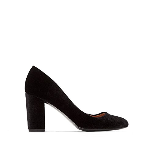 La Redoute Collections Frau Pumps, Veloursoptik Gre 36 Schwarz