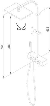 Grb kala - Termostatica ducha columna fija prisma cromo: Amazon.es ...