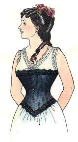 Victorian Costume 1880 (1880-1890's Late Victorian Corset Pattern)
