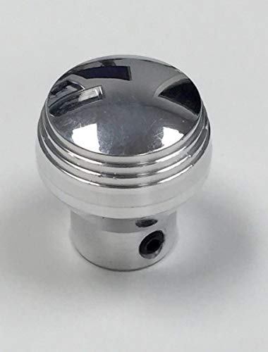 Billet Knob - Pirate Mfg Hot Rod Polished Billet Aluminum Dash Knob W/Set Screw Rat Rod Gasser Custom