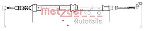 Metzger 10.7393 Cable, parking brake