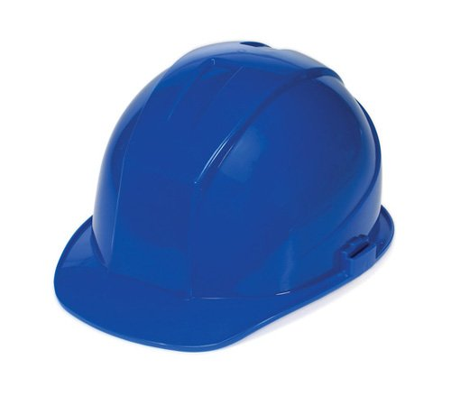 - Liberty DuraShell HDPE Cap Style Hard Hat with 6 Point Pinlock Suspension, Blue (Case of 6)