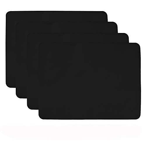 - Aspire 4PCS Thicken Non-Slip Silicone Placemats Cutting Hot Mats Tablemats-Black