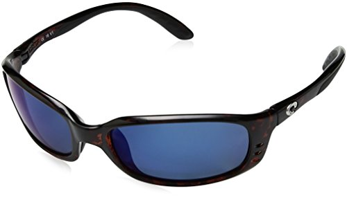 Costa del Mar Unisex-Adult Brine BR 10 OGMP Polarized Iridium Oval Sunglasses, Tortoise, 58.8 mm