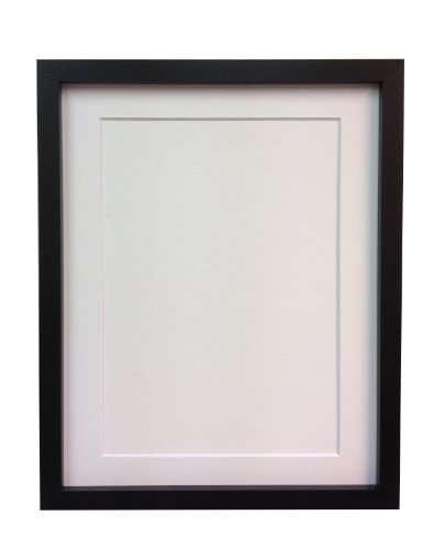 Frames by Post 18mm wide Rio Black Picture Photo Frame with White ...