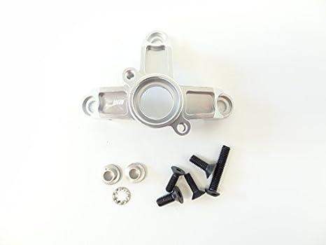 Rey Motor Embrague Aluminio Soporte de Campana (plata) para HPI Baja Buggy y camiones, Rovan Gas 1: 5 Escala Baja: Amazon.es: Bebé