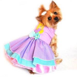 Polka Dot Mermaid Spring Dog Dress Medium by Doggie Design