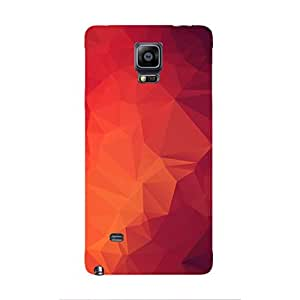 Cover It Up - Pink and Red Pixel Triangles Samsung Galaxy note Edge Hard Case