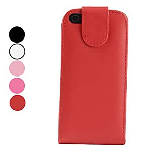 Protective Folding PU Leather Case for iPhone 5/5S (Assorted Colors) --- COLOR:Rose