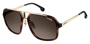Carrera Men's Ca1004s Aviator Sunglasses, Havana Gold/Brown Gradient, 57 mm