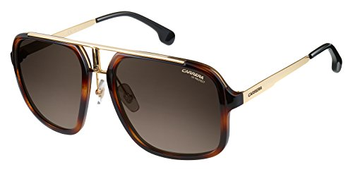 Carrera Men's Ca1004s Aviator Sunglasses, Havana Gold/Brown Gradient, 57 - Glasses Carrera Mens