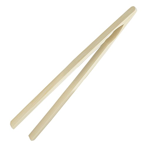 SCI Scandicrafts Bamboo 10 Inch Toast Tongs, Yellow