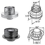 DuraVent 46DVA-KCB 4'' x 6-5/8'' Inner Diameter - DirectVent Pro Direct Vent Pipe, Galvanized