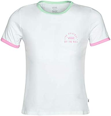 Vans Womens Rally Bell SS T-Shirt White/Green Ash-M: Amazon.es: Deportes y aire libre