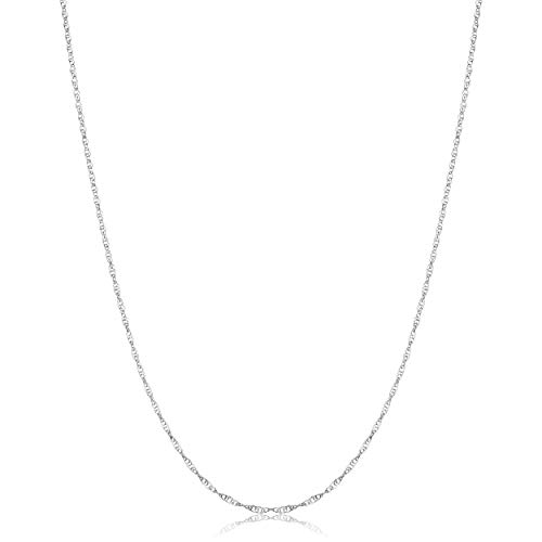 KoolJewelry Sterling Silver Rope Chain Necklace for Women (1.1 mm, 18 inch) (Sterling Silver 18 Rope Chain)