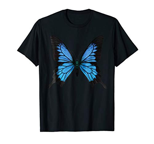 Papilio Ulysses Blue Butterfly T-Shirt