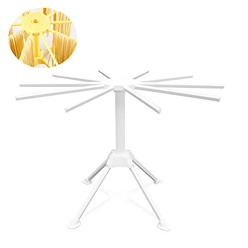 Leegoal Pasta Drying Rack with 10 Drying Arms Collapsible No