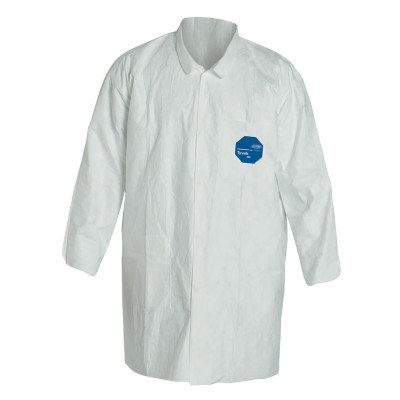 Dupont TY212S-L Tyvek Lab Coats Two Pockets, Large, Tyvek, White (Pack of 30)