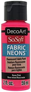 Deco Art SoSoft Fabric Acrylic Paint 2oz-Neon Pink