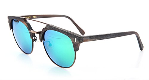 es Polarized uv Protection Wood Grain Black Bronze Frame Green Lens (150 Grain Round Nose)