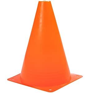 REEHUT 7.5 Inch Plastic Sport Training Traffic Cone (Set of 12 or 24)- 4 Colors