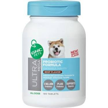 Cheapest GNC Pets Ultra Mega Probiotic Formula Chewable Tablet Beef Flavor 180 Tablets Check this out.