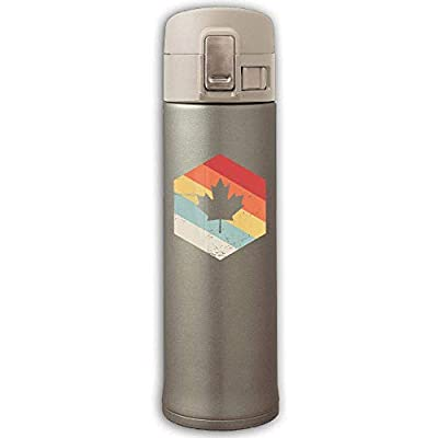 500ml Stainless Steel Vacuum Insulation Coffee Mug Leak Proof Retro Country Of Cana Flag Drink Kettle