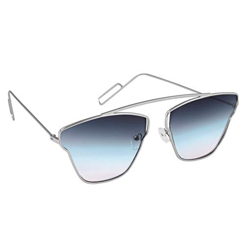 Elegante' UV Protected Blue Gradient Premium Unisex Rectangular Sunglasses (Model : elt-15005/G)…