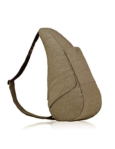 AmeriBag Small Distressed Nylon Healthy Back Bag, Taupe ()