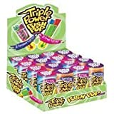 Topps Triple Power Push Pop Candy - 16 / Box by Topps