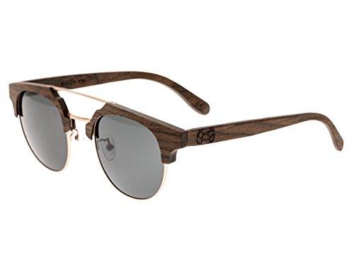 Earth Wood Kai Polarized Cateye Sunglasses, Brown//Black, 47 mm - Sunglasses Kai