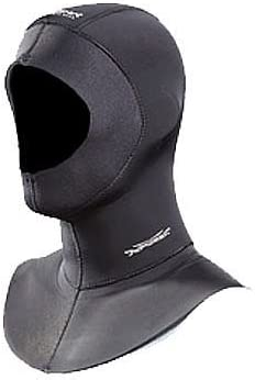 AKONA 5/3mm Quantum Stretch Vented Hood for Freediving, Spearfishing and Scuba Diving Size Large