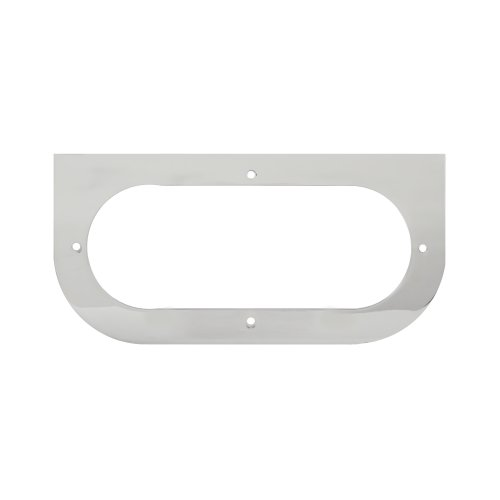 Grand General 81381 Chrome L-Shaped Mounting Bracket with 1-Oval Hole for Standard Oval Light