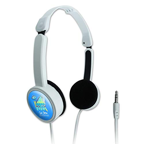GRAPHICS & MORE Gulf Stream Outfitters Yellowfin Ahi Tuna Ocean Fishing Novelty Travel Portable On-Ear Foldable Headphones (Fin Wht)