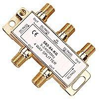 Amazon.com: Premium 4 Way Coax Cable Splitter F-Type 5-2400MHz ...