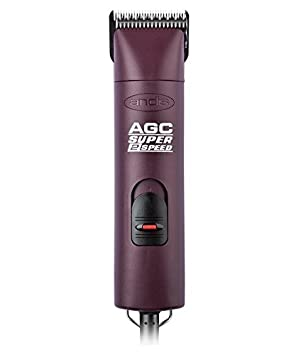 Andis UltraEdge Super 2-Speed Detachable Blade Clipper, Professional Animal Grooming, AGC2 Burgundy with A Bonus Blade Brush Andis Pet